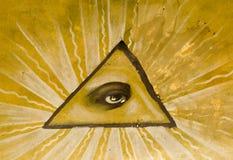 Ojo en triángulo Imagen de archivo libre de regalías