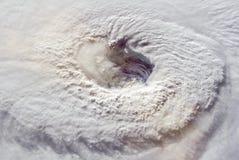 Ojo enorme del huracán Florencia foto de archivo libre de regalías