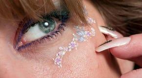 Ojo femenino hermoso Foto de archivo libre de regalías