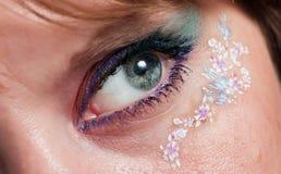 Ojo femenino hermoso Foto de archivo