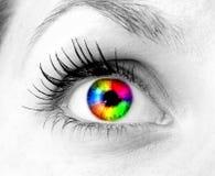 Ojo humano colorido Imagen de archivo libre de regalías