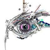 Ojo mecánico stock de ilustración