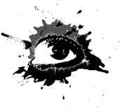 Ojo negro del grunge stock de ilustración