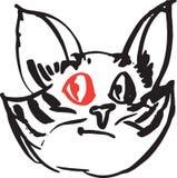 Ojo rojo del gato Fotos de archivo