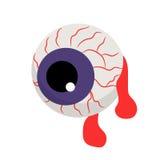 Ojo sangriento del zombi del vector libre illustration