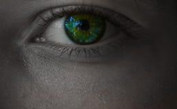 Ojo verde Imagen de archivo libre de regalías