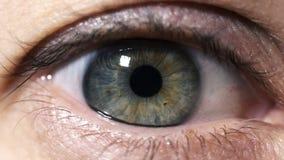 Ojo y espacio almacen de metraje de vídeo
