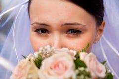 Ojo y flor fotos de archivo libres de regalías