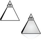 Ojo y pirámide stock de ilustración