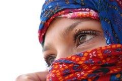 Ojos árabes Fotografía de archivo libre de regalías