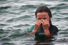Ojos 01 del dolor Imagen de archivo libre de regalías