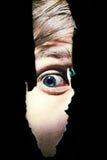 Ojos asustadizos de un hombre imagen de archivo libre de regalías