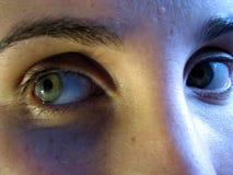 Ojos asustados Imagenes de archivo