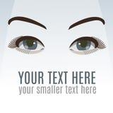 Ojos atractivos con maquillaje Foto de archivo