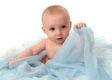 Ojos azules de bebé fotografía de archivo