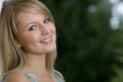 Ojos azules del pelo rubio Foto de archivo libre de regalías
