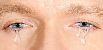 Ojos azules gritadores Fotos de archivo libres de regalías