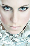 Ojos azules Piercing Foto de archivo libre de regalías