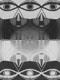 Ojos blancos y negros ilustración del vector