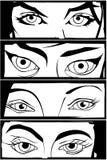 Ojos cómicos Foto de archivo libre de regalías