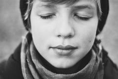 Ojos cerrados Imagen de archivo