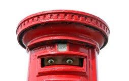 Ojos de espionaje de la caja de los posts Imágenes de archivo libres de regalías