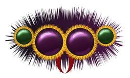 Ojos de la araña melenuda enorme Imagen de archivo libre de regalías