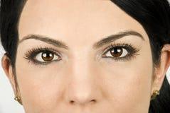 Ojos de la belleza Fotografía de archivo