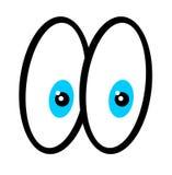 Ojos de la historieta Fotografía de archivo
