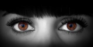 Ojos de la mujer fotos de archivo libres de regalías