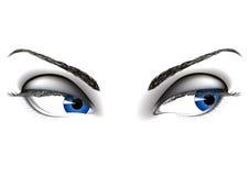 Ojos de la mujer stock de ilustración