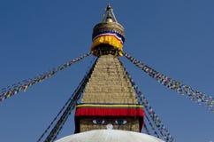Ojos de la sabiduría de Boudhanath Stupa fotografía de archivo