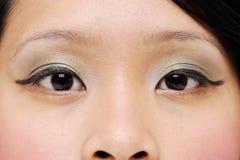 Ojos de las muchachas imagenes de archivo