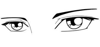 Ojos de Manga Fotografía de archivo libre de regalías