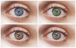 Ojos del amor Fotografía de archivo