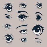 Ojos del animado Fotos de archivo