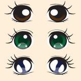 Ojos del animado Imagen de archivo libre de regalías