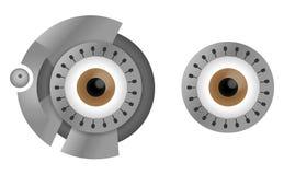 Ojos del Cyborg Imágenes de archivo libres de regalías