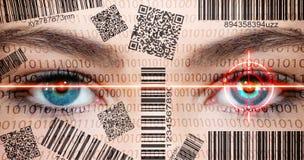 Ojos del escáner Imagen de archivo libre de regalías
