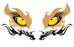 Ojos del león Foto de archivo libre de regalías