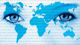 Ojos del mundo Imagen de archivo libre de regalías