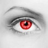 Ojos del vampiro Imagen de archivo libre de regalías
