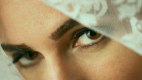 Ojos del velo imagen de archivo