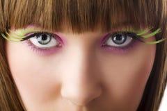 Ojos en color Imágenes de archivo libres de regalías