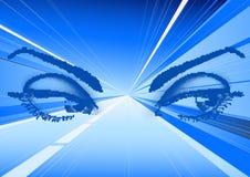 Ojos en luces mágicas ilustración del vector