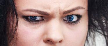 Ojos enojados Foto de archivo