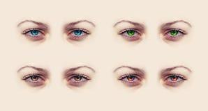 Ojos femeninos Fotos de archivo libres de regalías