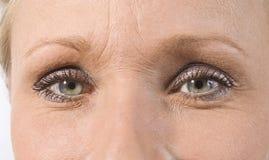 Ojos femeninos hermosos Imágenes de archivo libres de regalías