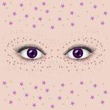 Ojos femeninos hermosos Fotos de archivo libres de regalías