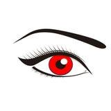 Ojos hermosos del rojo Imagen de archivo libre de regalías